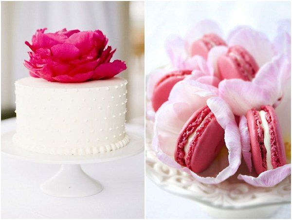 Pink Wedding Ideas - pink white wedding cakes