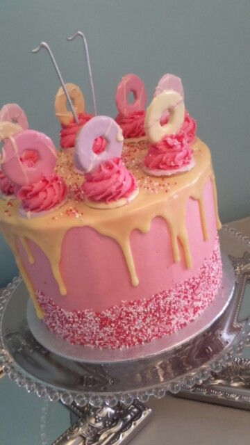 Chocolate Drip Cake with Party Rings, Chocolate sponge with Chocolate Ganache filling #dripcake