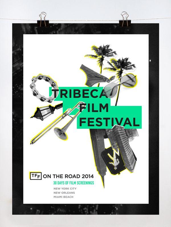 On the Road: Tribeca Film Festival by Maggie Lee, via Behance https://www.behance.net/gallery/11762251/On-the-Road-Tribeca-Film-Festival