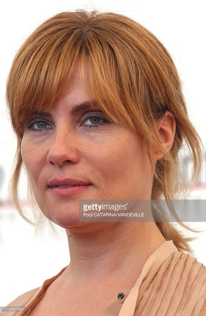 62nd Venice FilmFestival. Photocall of the movie 'Backstage' with Emmanuelle Seigner In Venice, Italy On September 08, 2005-French actress Emmanuelle Seigner.