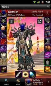 Android İçin World Of Warcraft Armory Oyunu