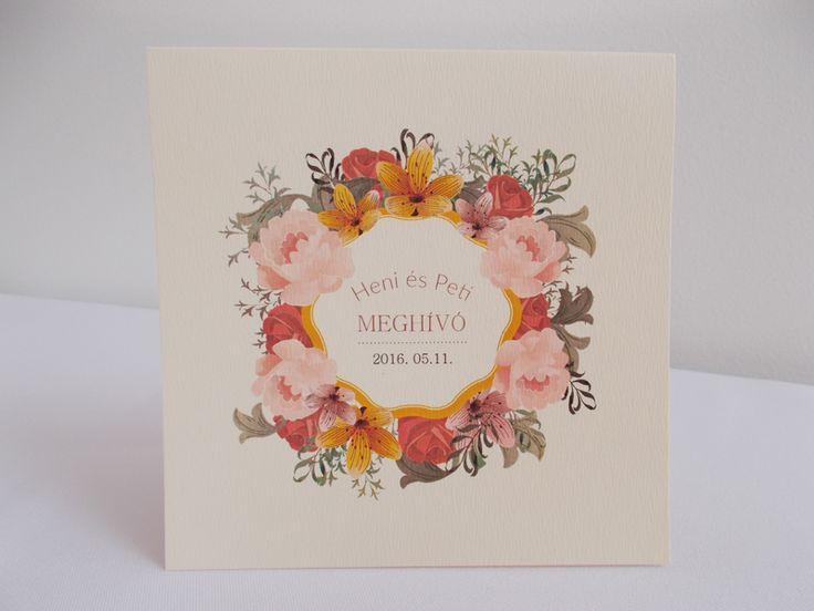 vintage esküvői meghívó 06.1