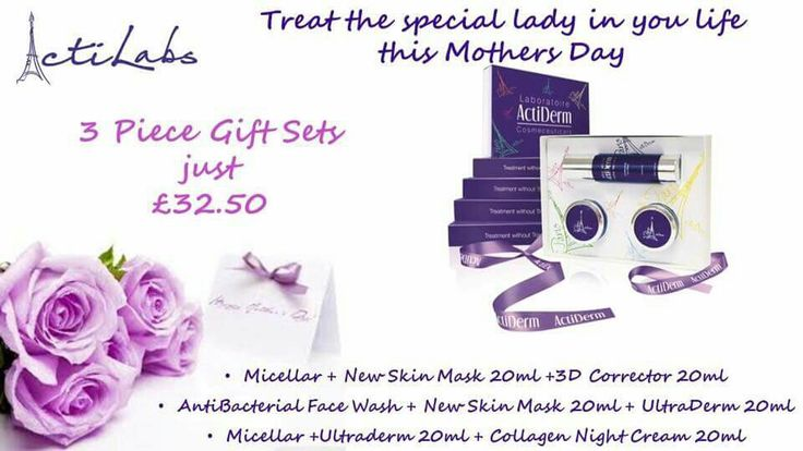 Looking for the perfect mothers day treat, why not check out our amazing gift sets.   https://www.actiderm.co.uk/me/joanne-ball/gift-boxes