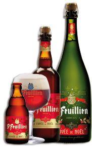 Brouwerij St-Feuillien - Bieren Saint-Feuillien blond, bruin, tripel, kerstbier, Saison, Grand Cru en Grisette fruits des bois, Cerise, wit, blond
