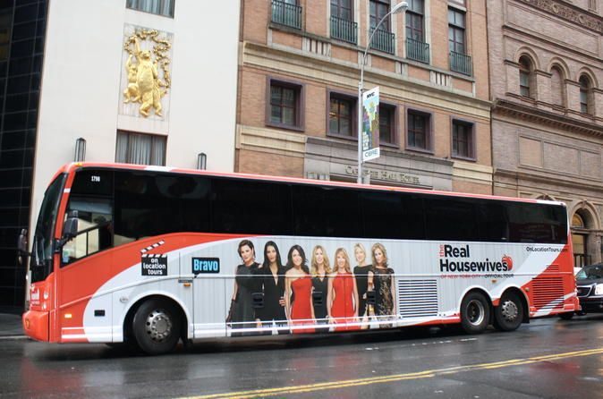 """The Real Housewives of New York City Tour Take a ride on the official The Real Housewives of New York City Tour and get the ultimate, one-of-a-kind """"Real Housewives"""" experience. Fans can relive some of the most memorable moments from all seven seasons and grab a sneak peek at some scintillating New York City sites from season eight. Spend the day visiting some of the most famous – and infamous – locations you've enjoyed watching on The Real Housewives of New York City.Take a ..."""