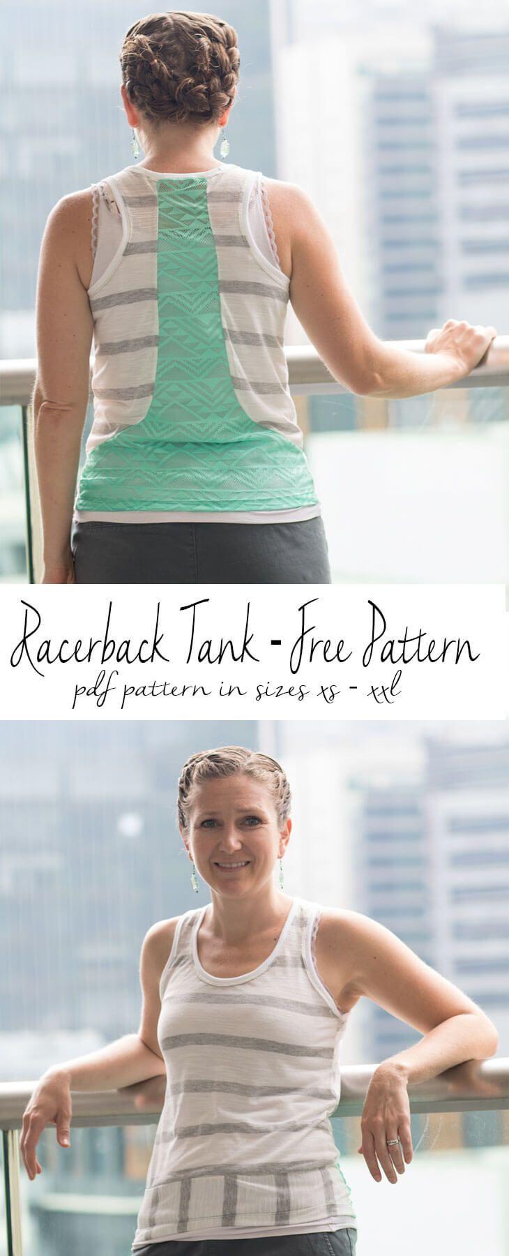 Free tank top sewing pattern a pdf pattern from Life Sew Savory