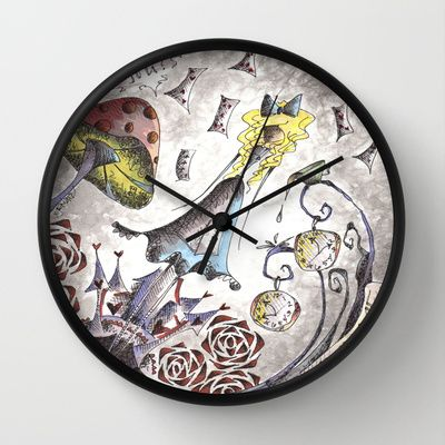 We're All Mad Wall Clock by Jena Sinclair $30.00