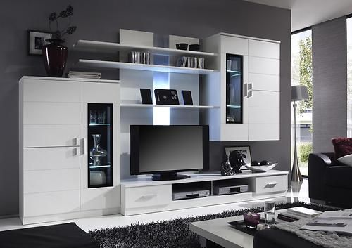 Echotwo Modern contemporary wall unit entertainment center