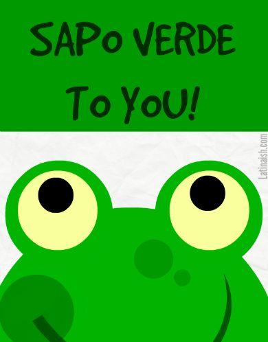 sapo verde to you - Buscar con Google