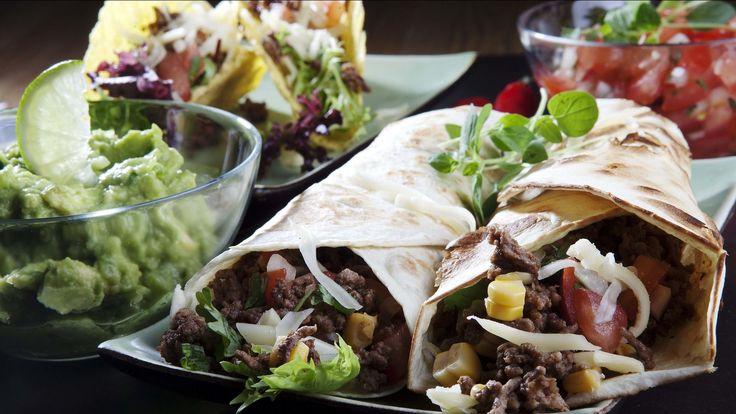 Taco med hjemmelaget tilbehør