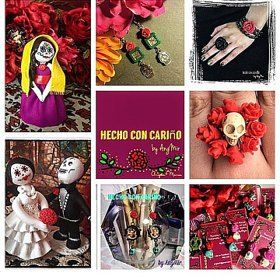"Hecho con Cariño by AngMir Illinois, United States On Etsy since 2010 ""Angela Hernandez aka AngMir is a mixed media artist who was born & raised in the Pilsen neighborhood in Chicago. Growing up she immediately fell in love with her cultura Mexicana & watching & helping her grandma & mother create whether it be for example knitting, crochet or making crafts. It was enriching family time & so fulfilling to make something out of nothing. Something abo"