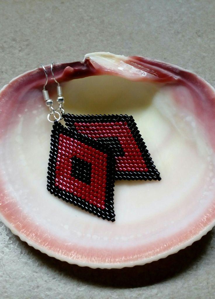 #290 Σκουλαρίκια με χάντρες  /  Seed bead earrings