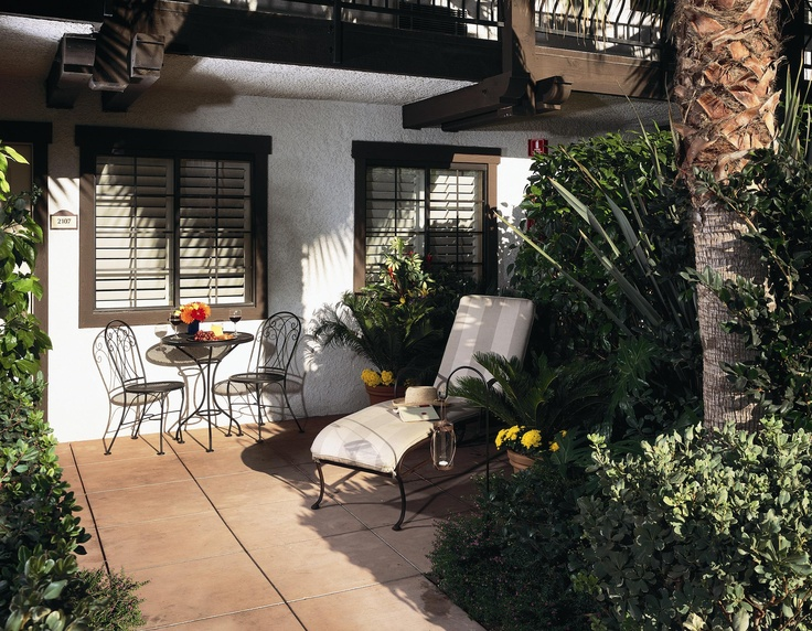 Concierge Room Patio At The Anabella Hotel In Anaheim, CA
