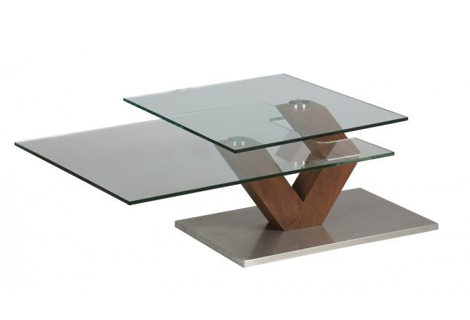 Table Basse verre socle