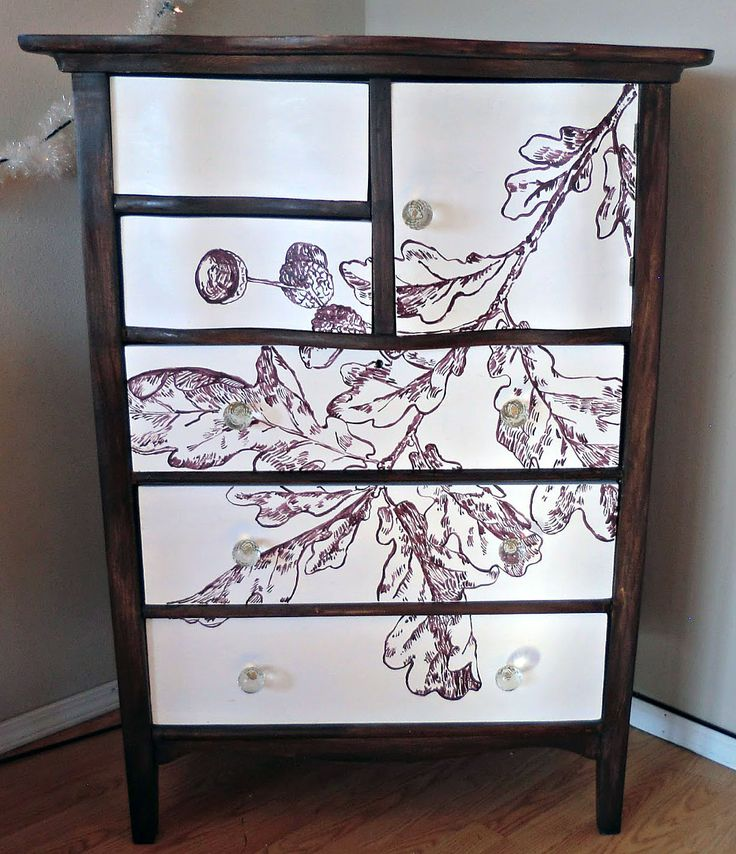 diy painted furniture ideas. painted oak leaf dresser diy from the graphics fairy diy furniture ideas