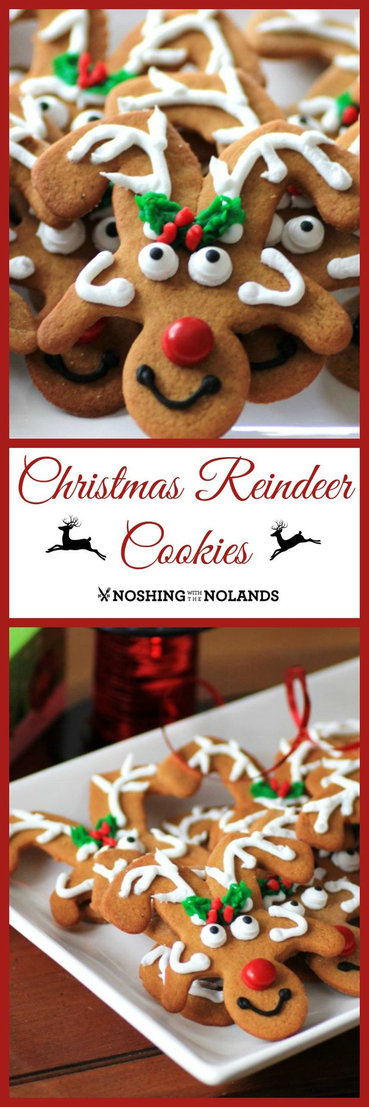 Christmas Reindeer Cookies by Noshing With The Nolands are a fun Christmas cookie that people love to receive!