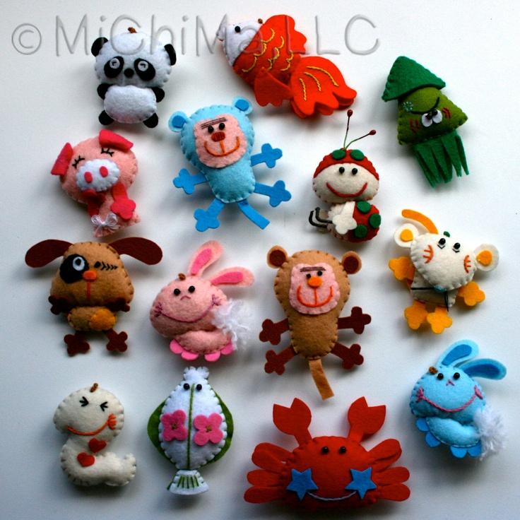 Felt Animals | MINI Stuffed Felt Animals by MiChiMaLLC on Etsy