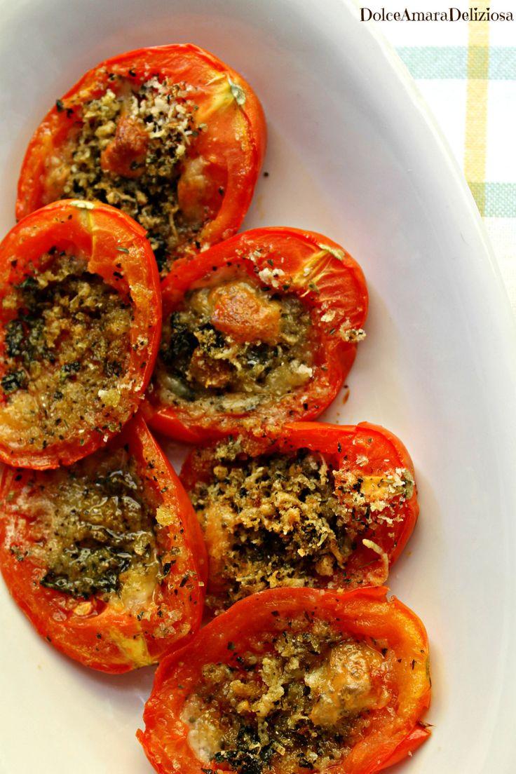 Pomodori gratinati: un'idea veloce per un pasto salutare e genuino =)