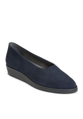 Aerosoles Women's Sideways Wedge Loafer - Navy - 6.5M