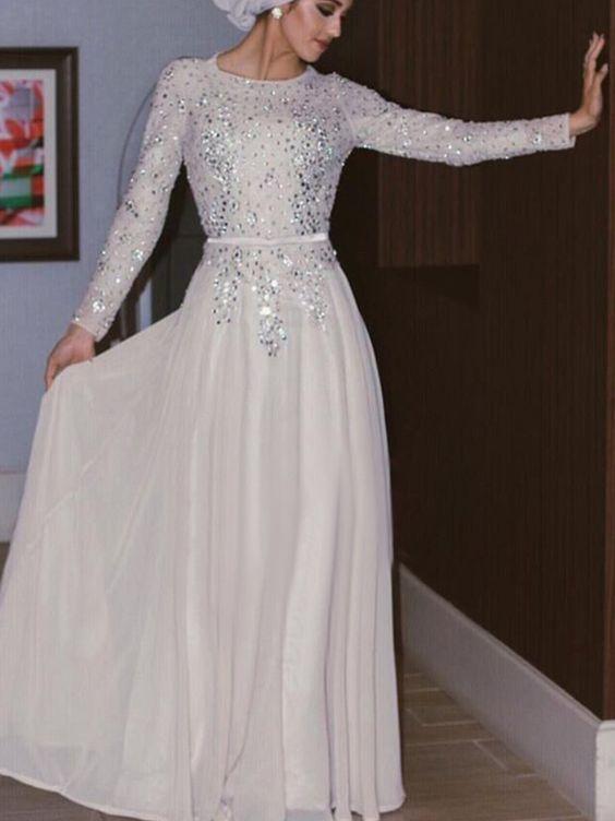 Sequins Prom Dress,Long Sleeve Prom Dress,Fashion Prom Dress,Sexy
