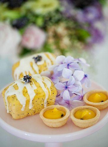 High Tea  with poppy seed cakes & lemon tarts