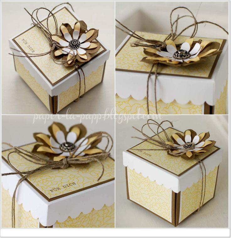 Box, Verpackung, Stampin up 2012, Frühjahrsmini, Blumen Blüten Schachtel