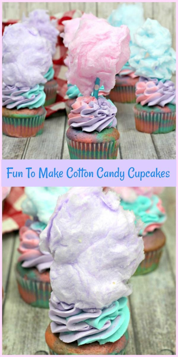 Fun To Make Cotton Candy Cupcakes Recipe Cotton Candy Cupcakes