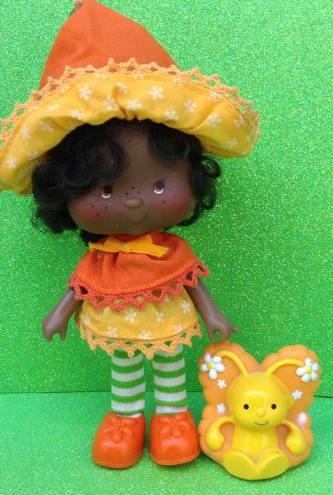 Strawberry Shortcake Vintage Friend Doll Orange Blossom & Pet Marmalade
