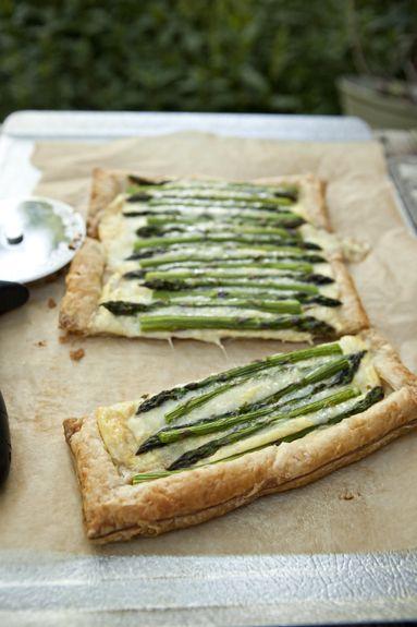 asparagus + gruyere tart