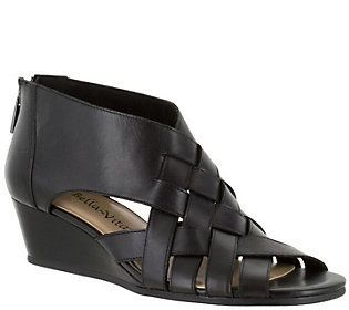 Bella Vita Leather or Suede Wedge Sandals - Isabelle