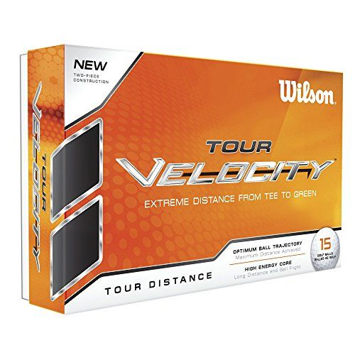 UK Golf Gear - Wilson Staff, Soft 2-Piece Construction Men's Golf Balls for Maximum Distance, 15-pack, 70 compression, Soft ionomer cover, Velocity, White, WGWR60100