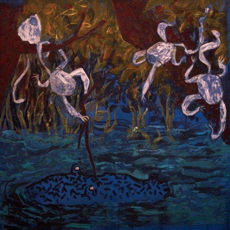 #Obraz #z #dzikimi #małpami #paiting #with #wild #monkeys  Szymon Szlec http://szszymon.blogspot.com/