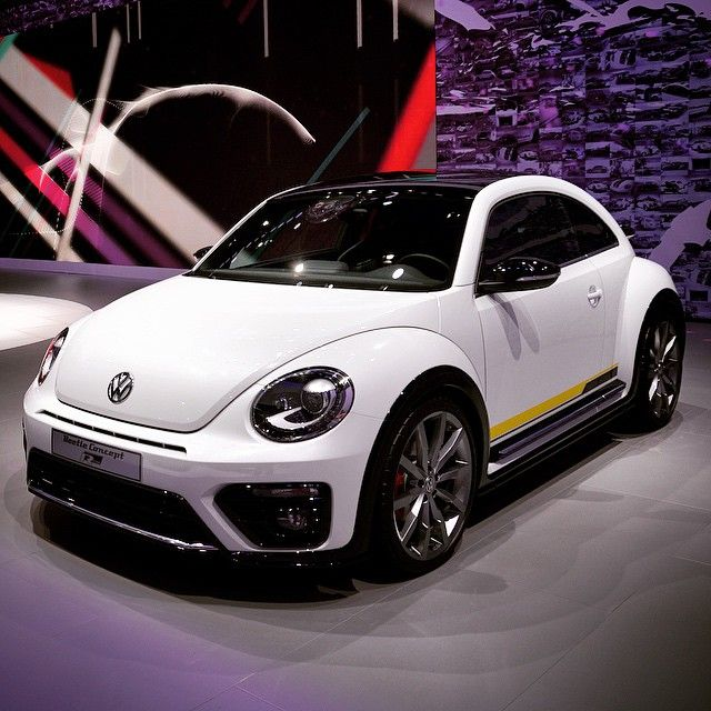 The #VWBeetle R-Line concept sits 0.6 inches wider on 20-inch Monterey wheels.  #VWNYIAS #NYIAS