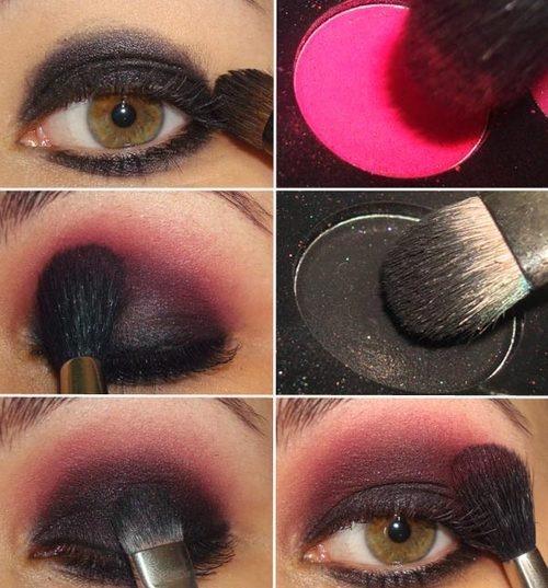 pink and black eyeshadow