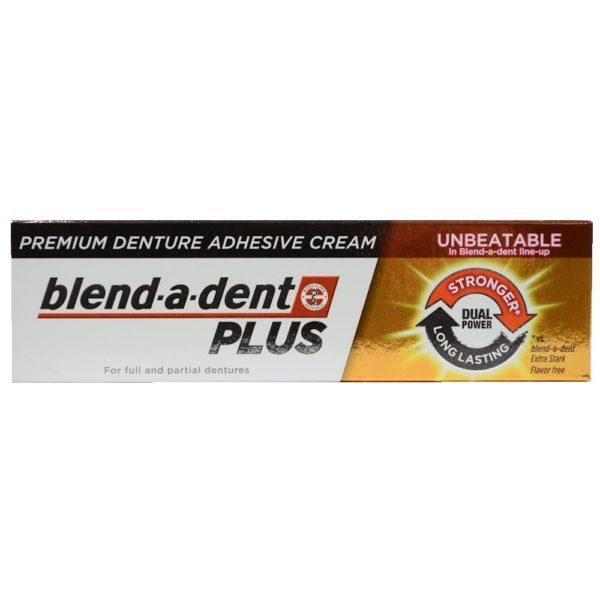 German blend-a-dent PLUS Premium Denture Adhesive Cream Dual Power 40g