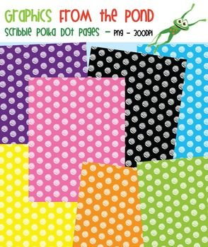 FREE Scribble Polka Dot Pages - Clipart for Teachers