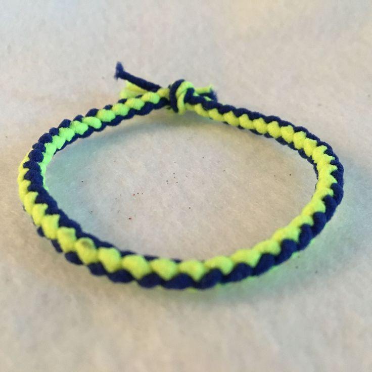 Braided Ponytail Holders, Ponytail Holder, School Spirit Ponytail Holder, Elastic Bracelet, Ponytail Holder Elastic, Hair Tie, Hair Band