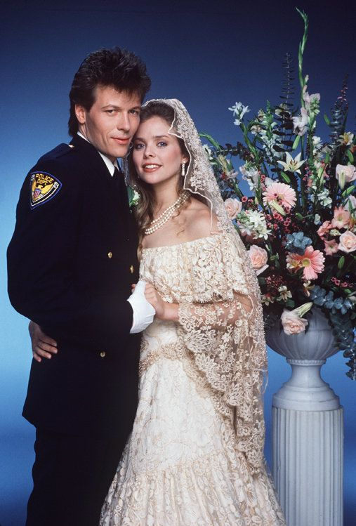 Frisco Jones (Jack Wagner) and Felicia Cummings (Kristina Wagner) wed despite last-minute complications, on Monday, June 23, 1986. - 1980s #GeneralHospital #GH50