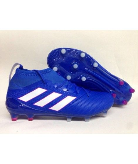 Adidas Ace 17.1 Primeknit Leather Firm Ground Menn Fotballsko Blå Hvit