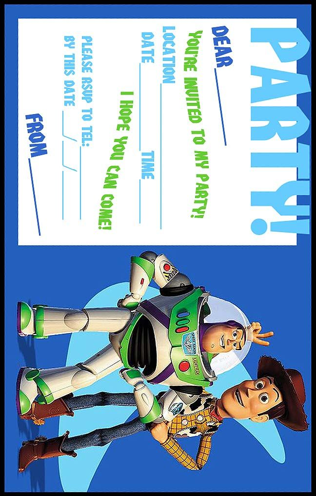 FREE Toy Story Woody and Buzz Lightyear Party Invitation Printable - Best Gift Ideas Blog