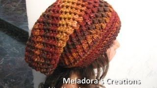 Meladoras Butterfly stitch slouch hat - YouTube