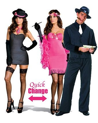 flapper and gangster couple halloween costumes the