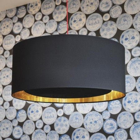 Black and Gold Ceiling Diffuser - Lamp Shades - Lighting