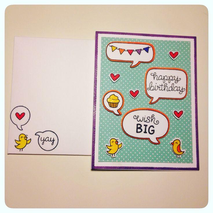 Bird card with envelope.