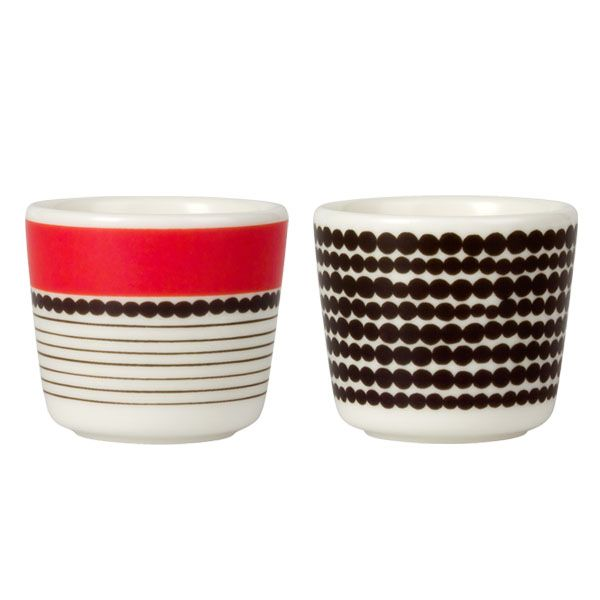 Siirtolapuutarha egg cups by Marimekko.