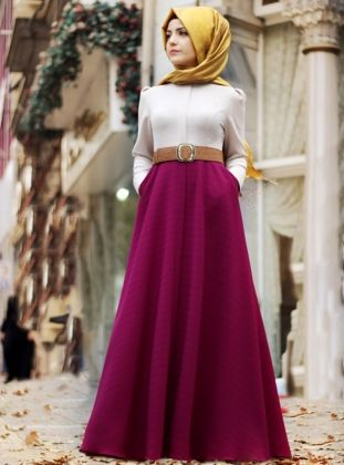 Sonbahar Elbise- Fuşya- Pınar Şems