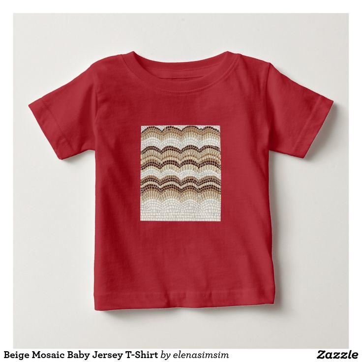 Beige Mosaic Baby Jersey T-Shirt