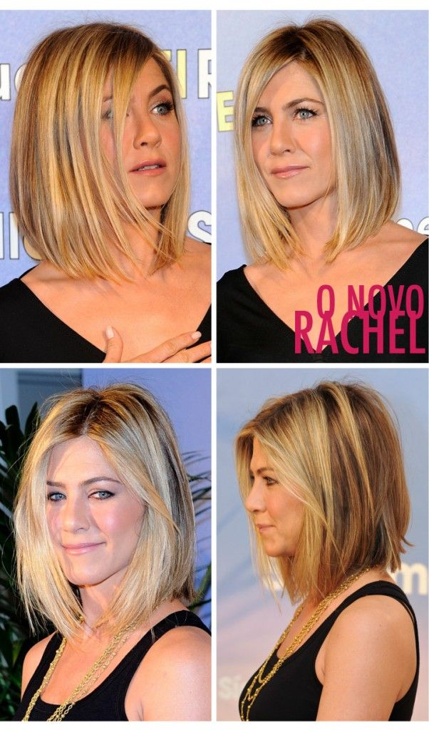 """Love her new hair... In the 5th grade, I had to have the """"Rachel""""...   Thinking about this length with the piece-y layers of ScarJo's hair..."""