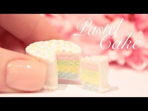 Mini Pastel Cake Polymer Clay Tutorial
