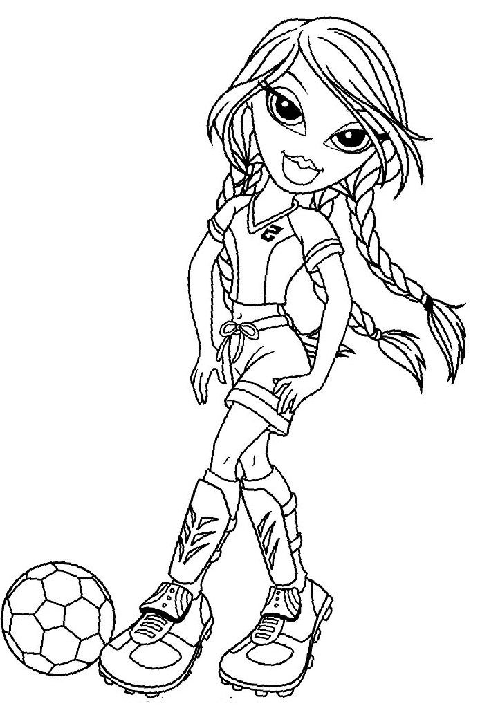 coloring pages bratz dolls - photo#48